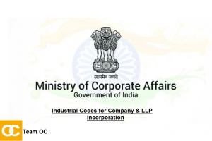 MCA INDUSTRIAL ACTIVITY CODES FOR COMPANY AND LLP INCORPORATION