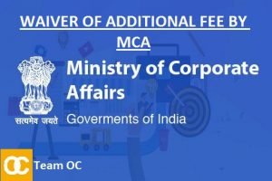 WAIVER OF ADDITIONAL FEE BY MCA